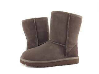 Childrens Shoes   UGG AUSTRALIA   KIDS CLASSIC SHORT BOOTS CHOCOLATE