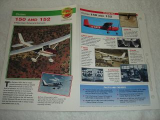 CESSNA 150 and 152 Airplane Picture Booklet Brochure