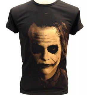 JOKER Shadow Heath Ledger BATMAN VTG Retro T Shirt S