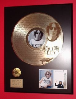 John Lennon Beatles Imagine Laser Etched Words 24k Gold LP R&R Gift