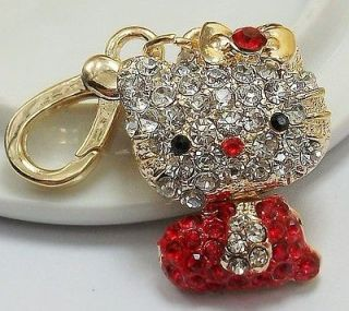 Hello Kitty Charm Pendent Fashion Swarovski Crystal Cat Lover