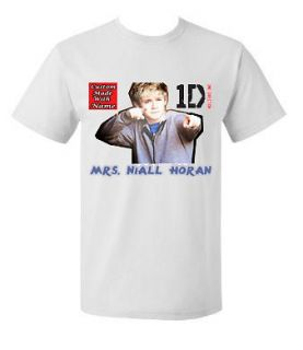 Customized One Direction Mrs. Niall Horan Teen T shirt Tee Short or