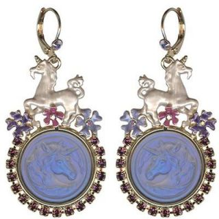 NEW KIRKS FOLLY CLOUDWALKER DREAMS LEVERBACK EARRINGS PEGASUS UNICORN