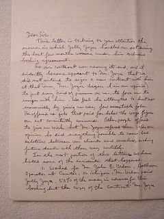 Comets hand signed letter autograph Jolly Joyce William LS provenance