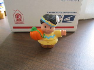 Little People Mayflower Thanksgiving Indian boy pumpkin dad feather