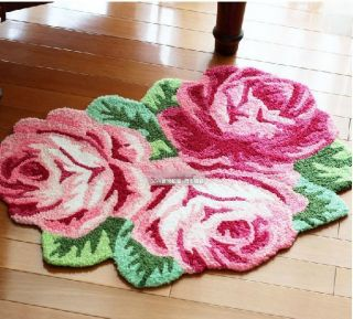Gorgeous Rose Flower Bath Rug Floor Mat Door Rug Best Wedding Gift