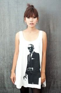 KANYE WEST RAPPER HIP HOP POP ART Party WOMEN Tank TOP T SHIRT DRESS
