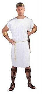 adult male white greek god costume tunic new