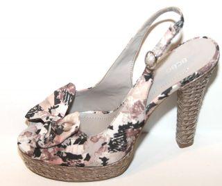 Generation Betina Camo Slingback Pump Fabric Sandals Sz 9b NWOB $98