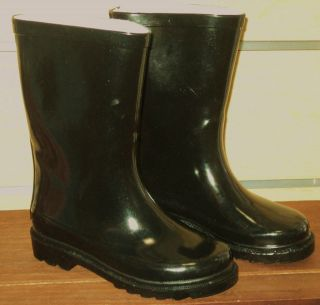 boys rain boots new black rubber rain boots sz 13 1 2 3 4