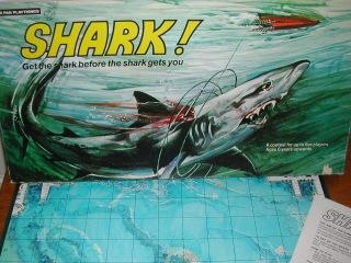 GAME   1970S   RARE GAME   JAWS GAME   SHARK!   PETER PAN PLAYTHINGS