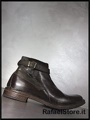 Shoes Ankle Boots Shell Brown Leather Brown Vintage New Collection