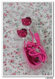 Lovely Hello Kitty Child Kids Earphone Headphone for MP3 MP4 Player