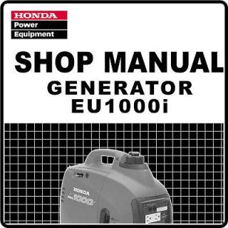 Honda EU1000i EU1000 Generator Service Repair Manual 61ZT300E2