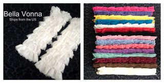 Baby Toddler Girls Ruffled LACE LEG WARMERS Petti Antique Style Lace