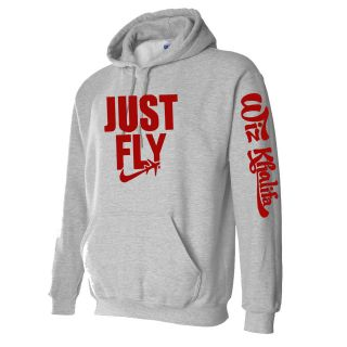 JUST FLY Wiz Khalifa HIP HOP Hooded Sweatshirt RED TAYLOR GANG Hoodie