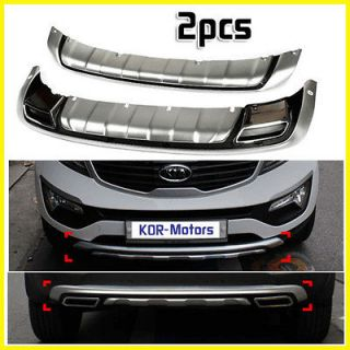 For 11 12 Kia Sporage R Fron & Rear Bumper DIFFUSER Skid Plae 2p