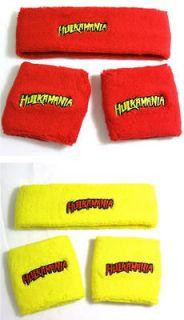 Hulk Hogan HULKAMANIA Red or Yellow Headband Wristband Set