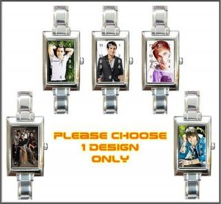 New Big Time Rush BTR Boy Band Charm Watch *5 Designs*