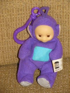 Teletubbies Tinky Winky Burger King Bean Bag Finger Puppet Key Chain