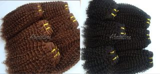 virgin brazilian kinky afro curly hair extensions 1pc more options