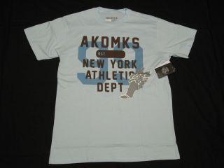 NWT NEW Mens Akademiks T Shirt Hermes Tee Blue Urban *Made in USA