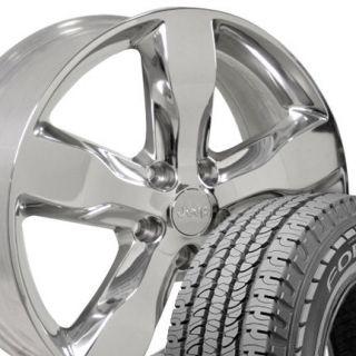 Polished Grand Cherokee Wheels Rims 265 50 20 Goodyear Tires OEM Jeep