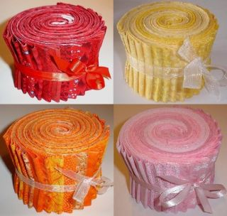 , Pink, Orange Fabric Jelly Rolls From Jelly Roll Fabric Company