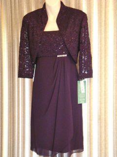 Mother of the Bride ELEGANT GLITTERING LACE & CHIFFON DRESS JACKET SET