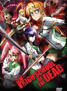 HIGH SCHOOL OF THE DEAD COMPLETE COLLECTION DVD Anime Episodes 1 12