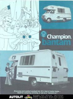 1976 champion bantam dodge motorhome rv brochure returns accepted