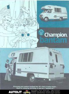 1976 champion bantam dodge motorhome rv brochure returns accepted