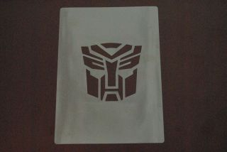 Transformers autobot Stencil Airbrush Painting