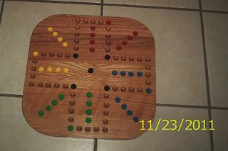 17  New Handcrafted Wooden Aggravation Game Board Complete with