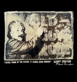 Albert Einstein Future Old Guys Rule Tee Shirt Large