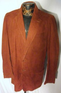Vintage Irvin Foster Water Resistant Brown Suede Leather Sports Jacket