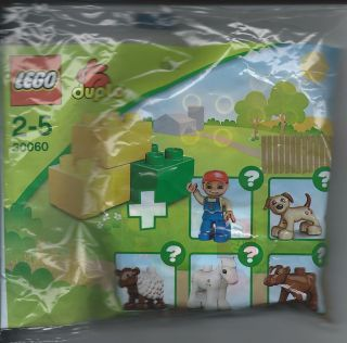 LEGO Duplo 30060 Farm Set with dupcalf1pb01 Cow Baby Calf White Blaze