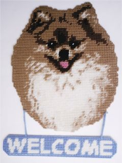 pomeranian dog welcome sign plastic canvas pattern time left $