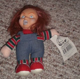 Vintage 1990 CHUCKY Childs Play doll, mini plush 6 inches tall