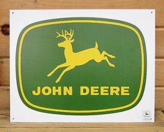 John Deere 56 Logo TIN SIGN vtg antique tractor metal poster wall