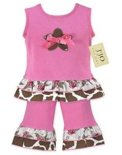 SWEET JOJO DESIGNS PINK AND BROWN GIRLS OUTFIT CLOTHING KIDS BABY