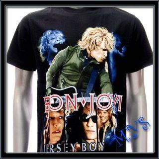 sz l bon jovi t shirt vtg retro hard rock