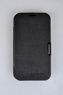Black Luxury Flip PU Leather Case Cover For Samsung Galaxy Note 2 II
