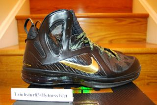 DS Nike Lebron James 9 IX PS Elite Black/Metallic Gold Mens Basketball