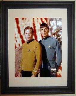 Star Trek Captain Kirk Spock Leonard Nimoy William Shatner Framed