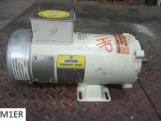 Leeson 1 HP DC Permanent Magnet Motor C4D17WK2F 1750 RPM 180V 5/8