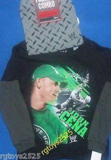 john cena green shirt in Sports Mem, Cards & Fan Shop