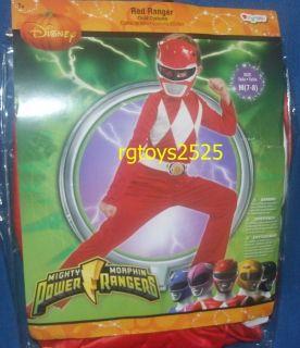 Mighty Morphin Power Rangers Red Ranger Costume Size 7 8 M New Jason