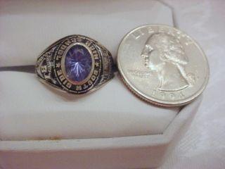 Vintage Sterling JOSTENS South Side 1981 High School Ring Ladies Size