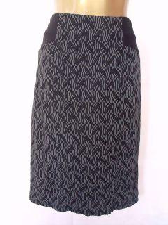 New M&S Per Una Black Aztec Print Pencil Skirt Size 8 10 12 14 16 18